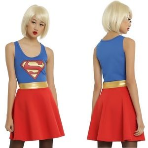 Hot Topic Supergirl Cosplay Dress size Large. B060